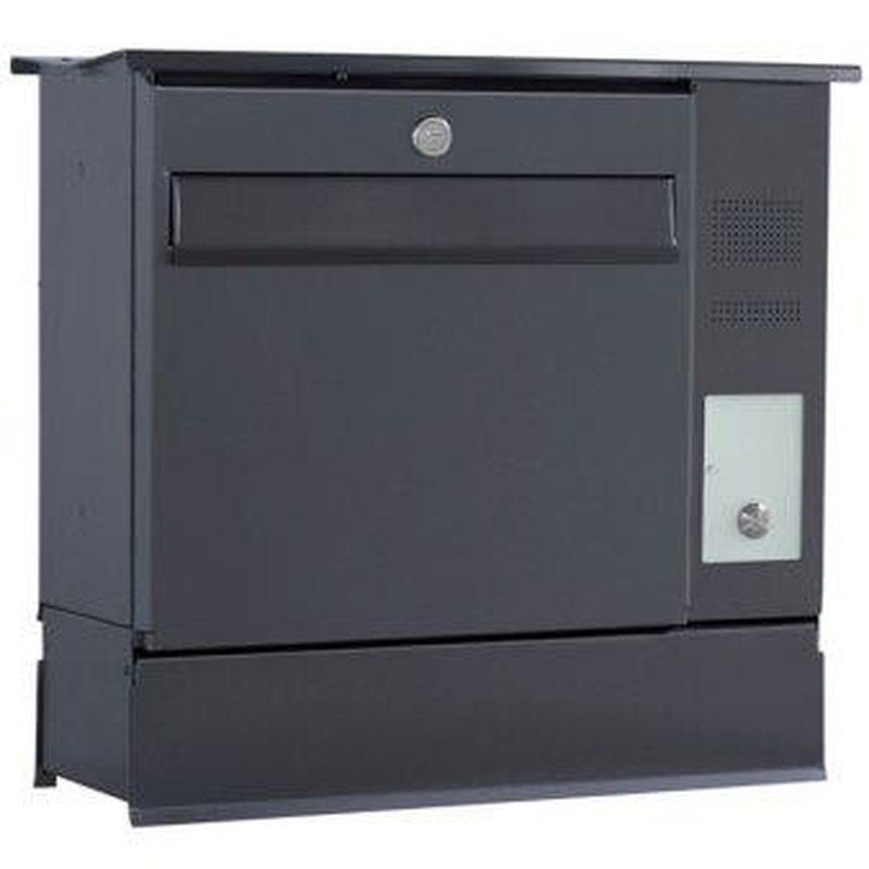 briefkasten likno 8000 zf und ke rechts entnahme vorn dach eckig ral 7016 an. Black Bedroom Furniture Sets. Home Design Ideas