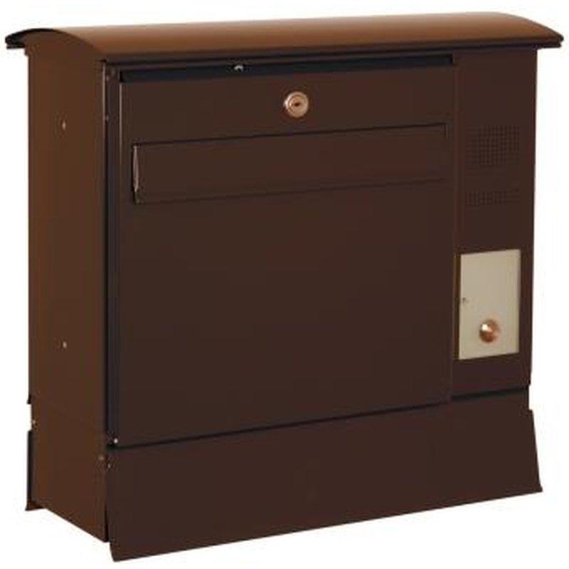 briefkasten likno 8000 zf und ke rechts entnahme vorn dach rund ral 8017 sch. Black Bedroom Furniture Sets. Home Design Ideas