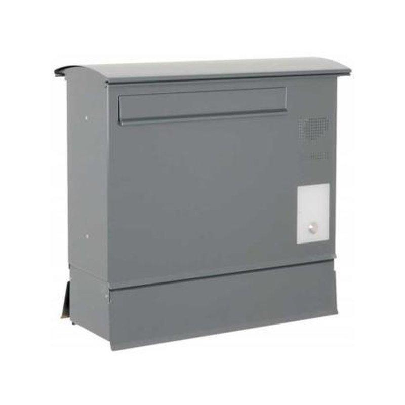 briefkasten likno 8000 zf und ke rechts entnahme hinten dach rund ral 9007 g. Black Bedroom Furniture Sets. Home Design Ideas