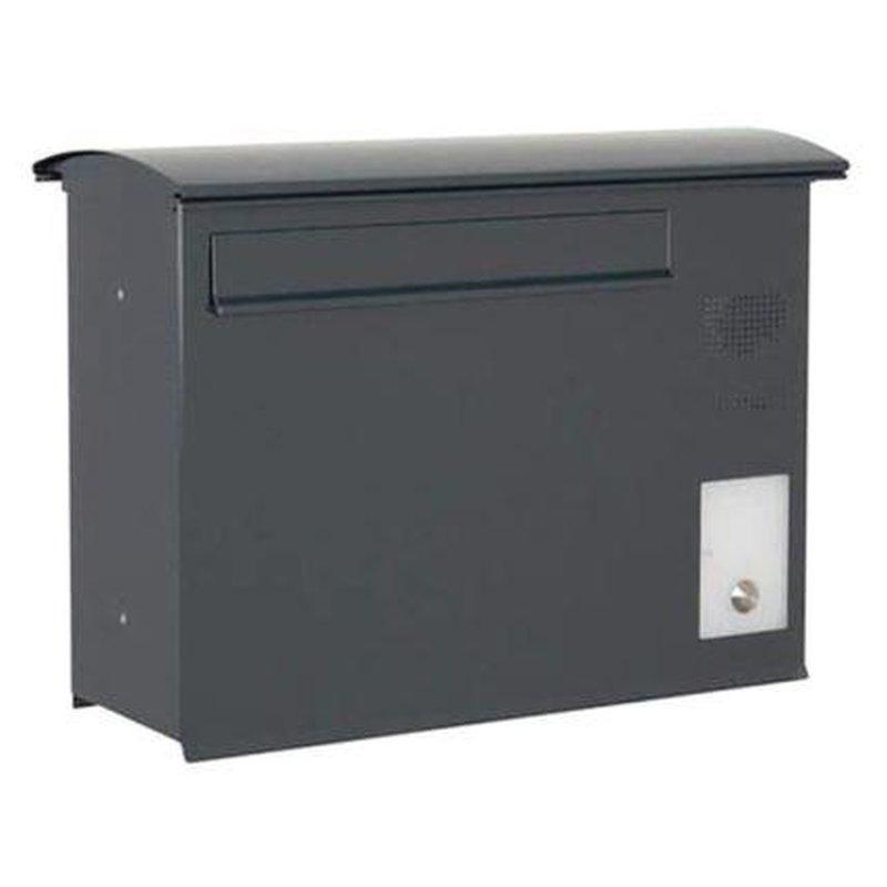 briefkasten likno 8001 rd t r hinten ke rechts ral 7016. Black Bedroom Furniture Sets. Home Design Ideas