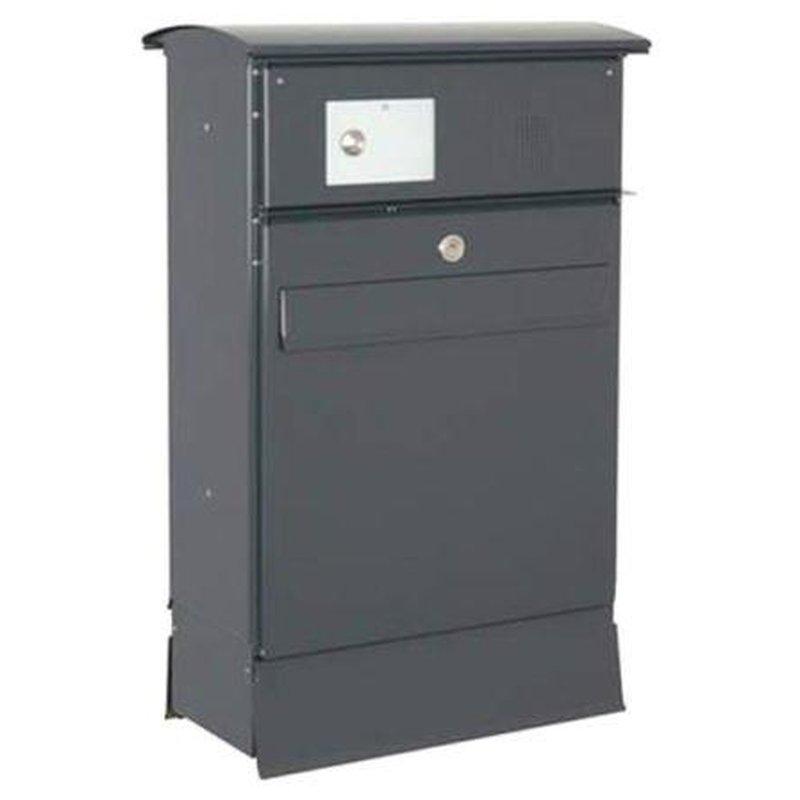 briefkasten likno 8004 rd t r vorn zf ke oben ral 7016. Black Bedroom Furniture Sets. Home Design Ideas