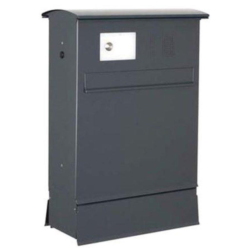 briefkasten likno 8004 rd t r hinten zf ke oben ral 7016. Black Bedroom Furniture Sets. Home Design Ideas