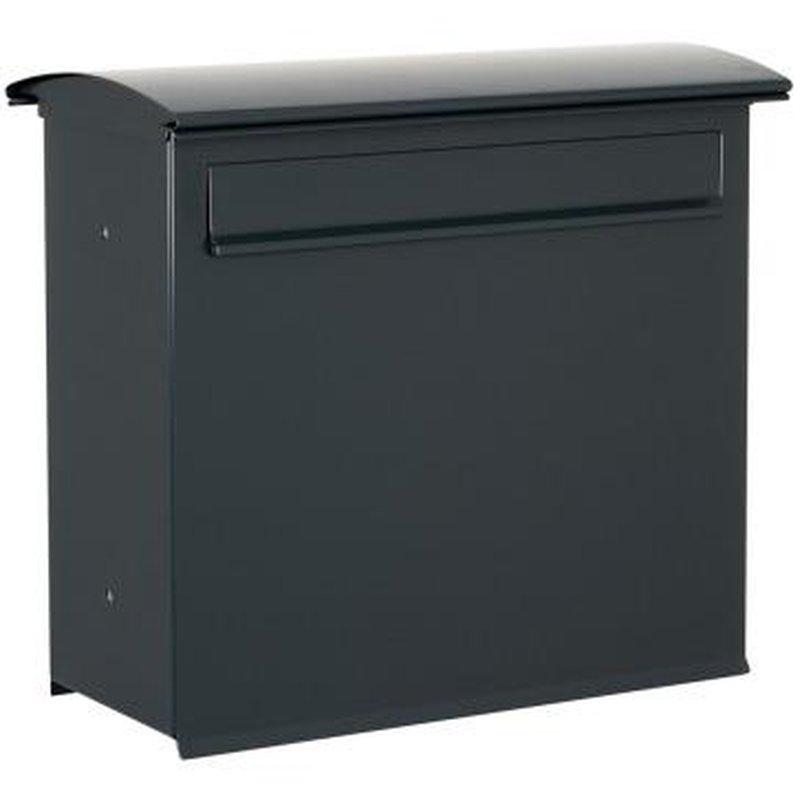 briefkasten likno 8003 rd t r hinten ral 7016. Black Bedroom Furniture Sets. Home Design Ideas